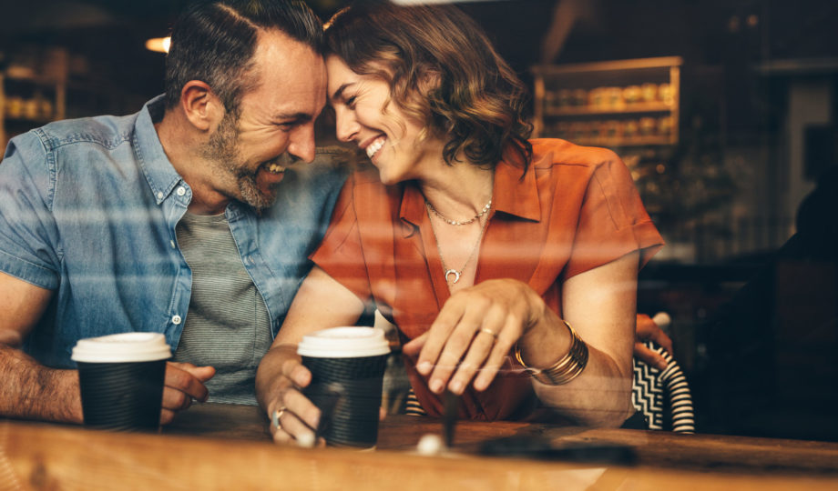 Beautiful,Couple,In,Love,Having,A,Coffee,Date.,Loving,Couple